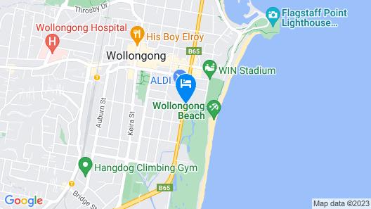Best Western City Sands - Wollongong Golf Club Map