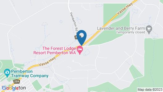 Pemberton Farm Chalets Map