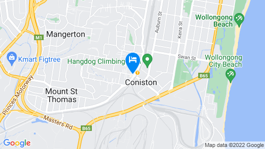 Coniston Hotel Wollongong Map