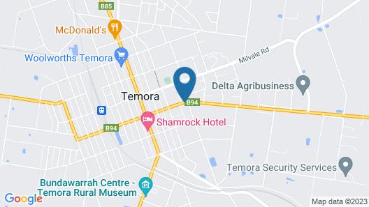 Aromet Motor Inn Map