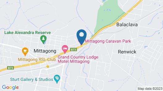 Mittagong Caravan Park Map