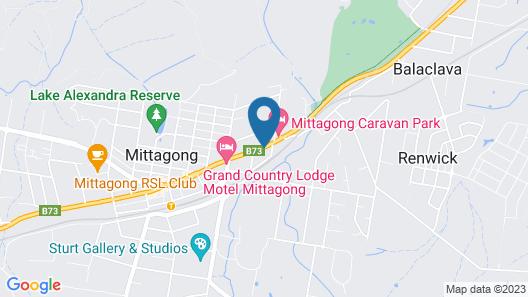 Mittagong Motel Map