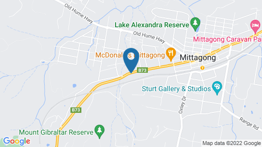 Bowral Road Bed and Breakfast Map