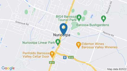 Vine Inn Barossa Map
