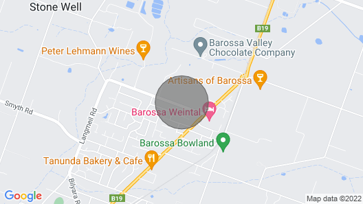 Little Para Cottage Barossa Map