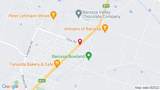 Barossa Weintal Hotel Complex Map