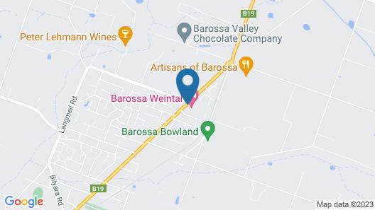 Barossa Weintal Hotel Map