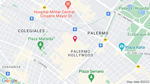 Fierro Hotel Buenos Aires Map