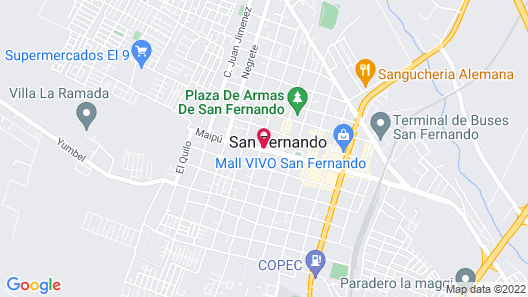 Hotel Manso de Velasco Map