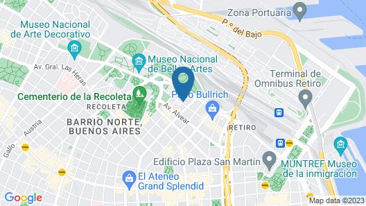 Melia Recoleta Plaza Map