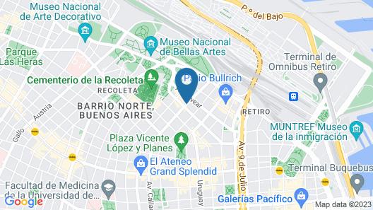 CasaSur Recoleta Map
