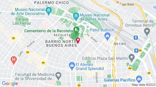 Loi Suites Recoleta Hotel Map
