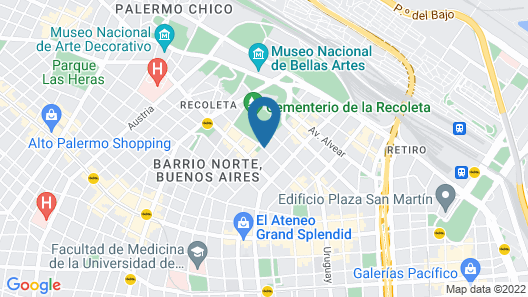 Loi Suites Recoleta Hotel Map