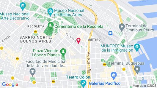 Recoleta Luxury Boutique Hotel Map