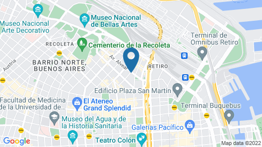 Recoleta Luxury Boutique Hotel Map