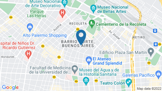 Arc Recoleta Boutique Hotel & Spa Map