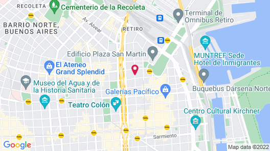 Alvear Art Hotel Map