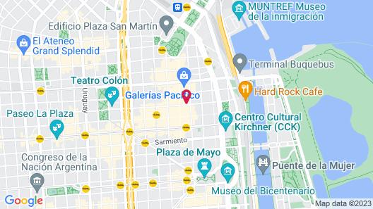 Claridge Hotel Map