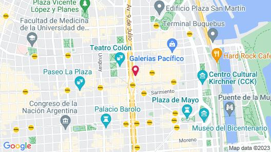 Exe Hotel Colón Map