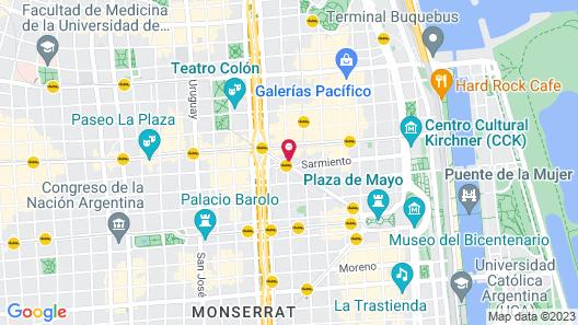 NH Buenos Aires Latino Map