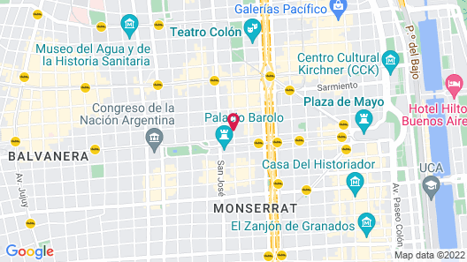 Lennox Hotel Buenos Aires Map