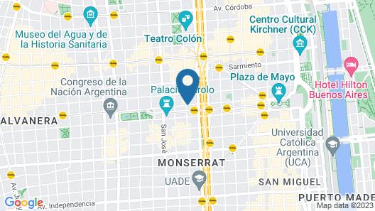 BA Stop Hostel Map