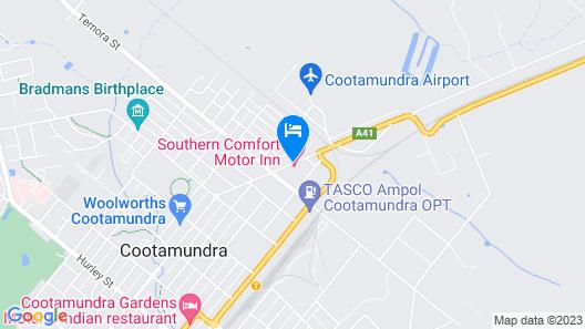 Southern Comfort Motor Inn Map