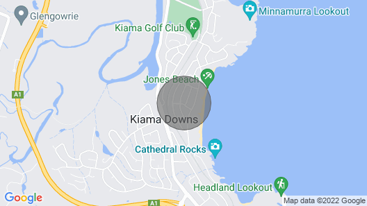 Moona Beach Side - Kiama, NSW Map