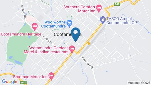 Wattle Tree Motel Map