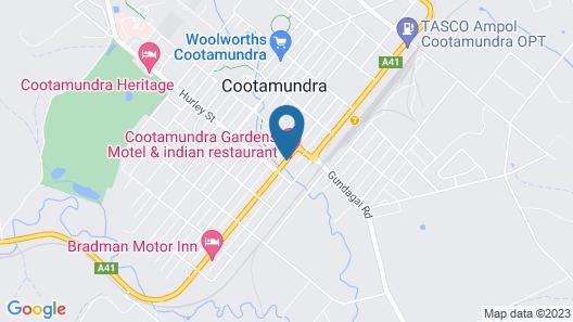 Cootamundra Gardens Motel Map