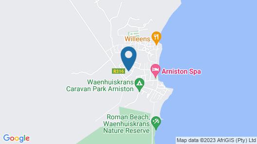 BlueSky Guest House Arniston Map