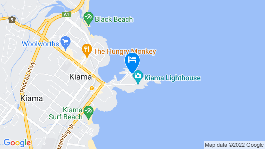 Kiama Harbour Cabins Map