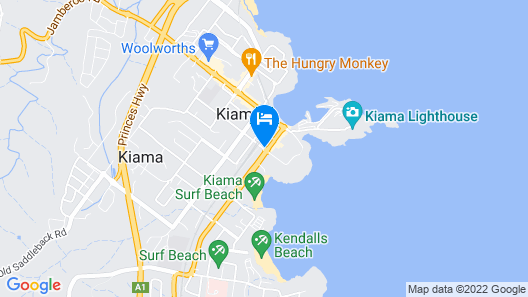 Grand Hotel Kiama Map