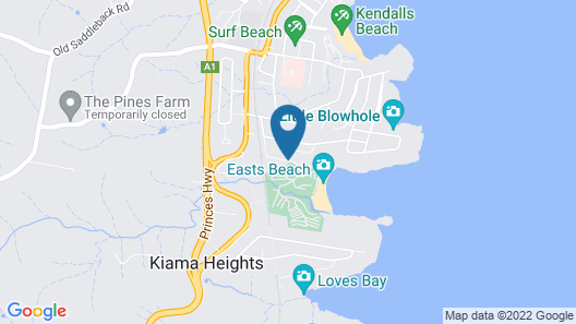 BIG4 Easts Beach Holiday Park Map