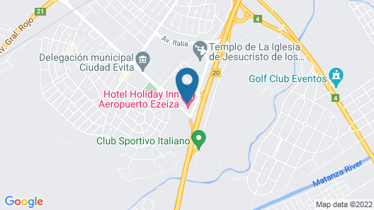 Holiday Inn Buenos Aires Ezeiza Airport Map