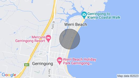Sundara Beach House - Ocean Views, Heated Pool & Spa, Games Room/cubby/aircon Map