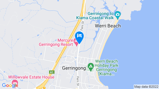 Mercure Gerringong Resort Map