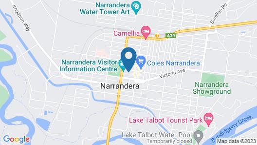 Narrandera Club Motor Inn Map