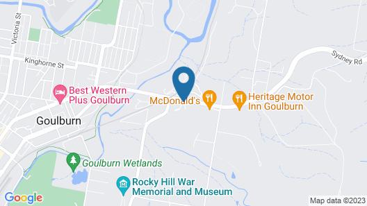 Willows Motel Goulburn Map