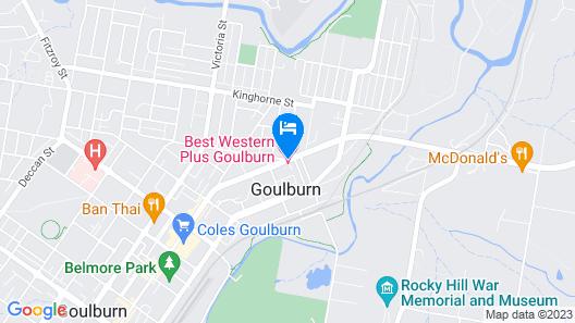 Best Western Plus Goulburn Map