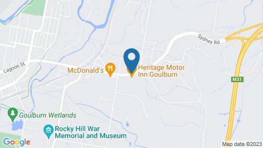 Heritage Motor Inn Goulburn Map