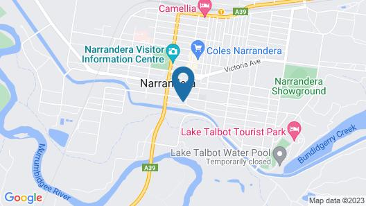 Bishops Lodge Narrandera Map