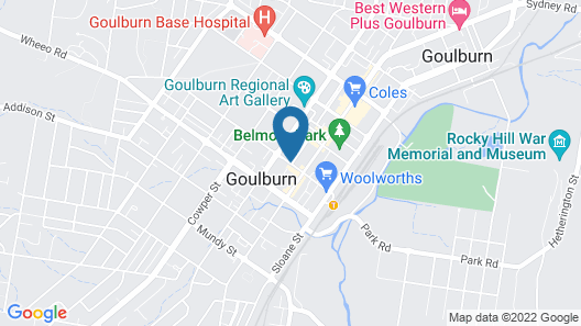 The Abbey Motel Goulburn Map