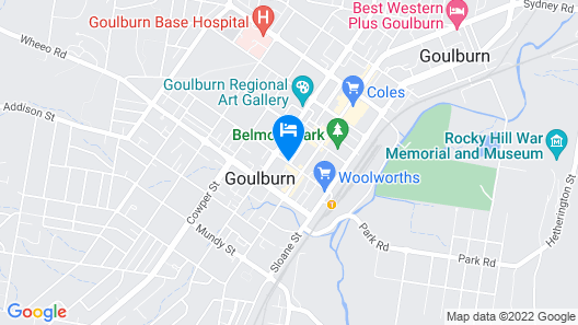 The Abbey Motel Goulburn Map