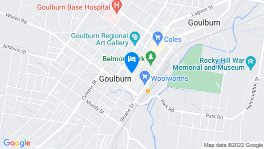 Goulburn Central Motor Lodge Map