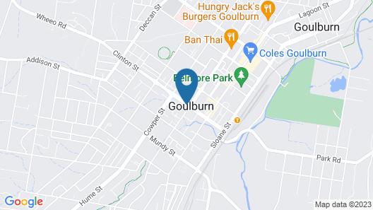 Goulburn Motor Inn Map