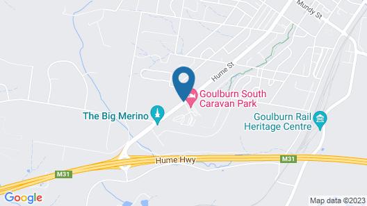 Goulburn South Caravan Park Map