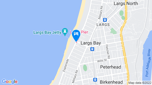 Largs Pier Hotel Motel Map