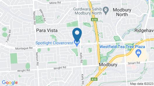 Clovercrest Hotel Motel Map