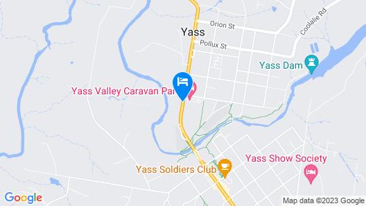 Yass Motel Map